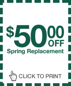 Precision Door Los Angeles Spring Replacement Coupon