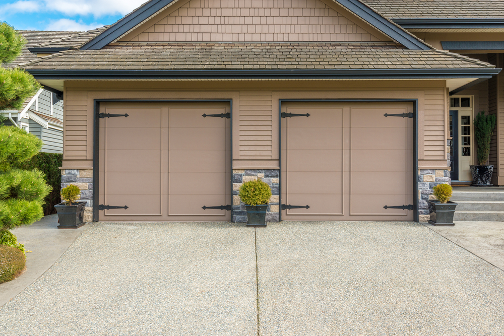 home with two-car garages